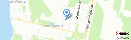 Деловой на карте Перми