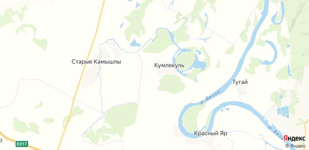 Кумлекуль на карте