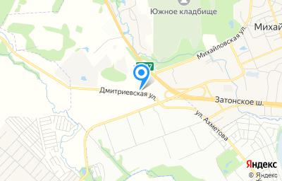 Местоположение на карте пункта техосмотра по адресу Респ Башкортостан, Уфимский р-н, с Михайловка, ул Дмитриевская, зд 1