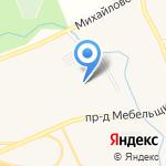 Амега-Строй на карте Михайловки