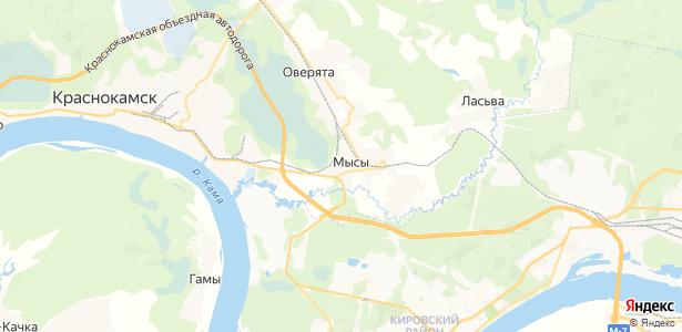 Мысы на карте