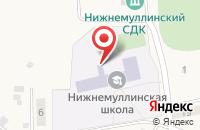 Схема проезда до компании Нижнемуллинская средняя общеобразовательная школа в Шилово