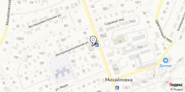 МУЗА. Схема проезда в Михайловке
