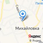 Колибри на карте Михайловки