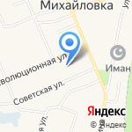 Михайловская врачебная амбулатория на карте Михайловки