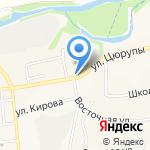 Киоск по продаже фруктов и овощей на карте Булгаково