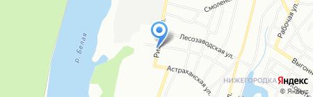 Арский камень на карте Уфы