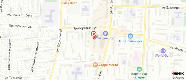 Карта расположения пункта доставки Стерлитамак Артема в городе Стерлитамак