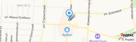 Автостоянка на ул. Артема на карте Стерлитамака