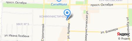 Строящиеся объекты на карте Стерлитамака