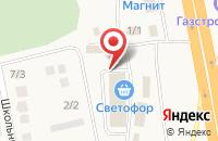 Схема проезда до компании Строитель в Булгаково