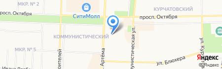Межрайонный отдел управления экономической безопасности и противодействия коррупции МВД по Республике Башкортостан на карте Стерлитамака
