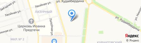 Продовольственный магазин на ул. Артема на карте Стерлитамака
