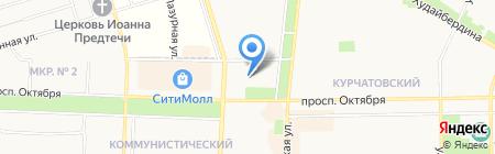 Отдел потребительского рынка и услуг на карте Стерлитамака