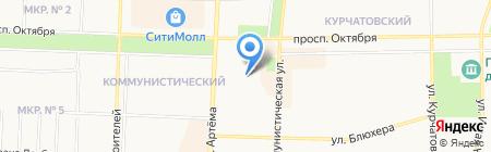 Гузель на карте Стерлитамака