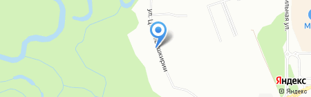 Семерочка на карте Уфы