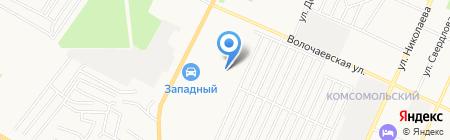 Автосервис на Западной на карте Стерлитамака