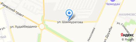 Автосервис на ул. Шаймуратова на карте Стерлитамака