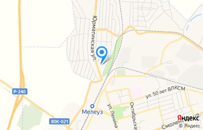 Местоположение на карте пункта техосмотра по адресу Респ Башкортостан, г Мелеуз, ул Юрматинская, д 107
