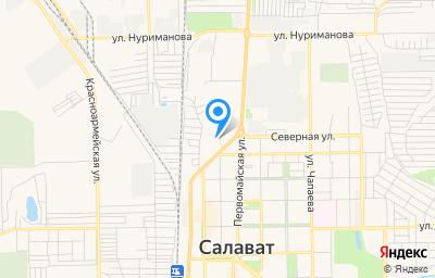 Местоположение на карте пункта техосмотра по адресу Респ Башкортостан, г Салават, ул Колхозная, д 42