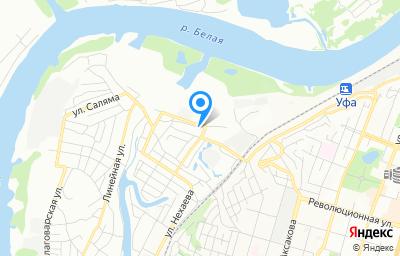 Местоположение на карте пункта техосмотра по адресу г Уфа, ул Силикатная, д 28 к 1