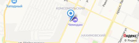 Продуктовый магазин на ул. Николаева на карте Стерлитамака