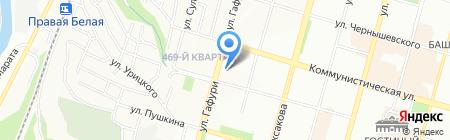 Алексеевский на карте Уфы