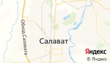 Гостиницы города Салават на карте
