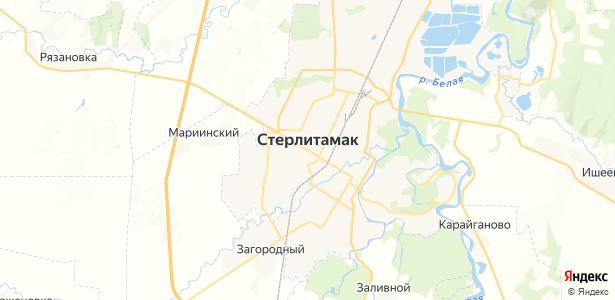 Стерлитамак на карте