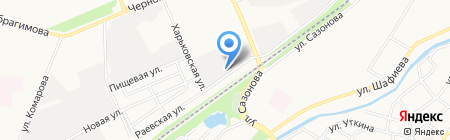 Шиномонтажная мастерская на Раевской на карте Стерлитамака