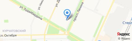 Служба реставрации подушек на карте Стерлитамака