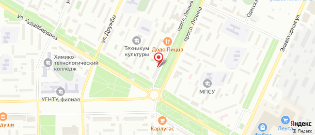 Карта расположения пункта доставки На Ленина в городе Стерлитамак