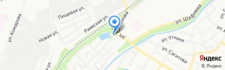 Шиномонтажная мастерская на Приветливой на карте Стерлитамака