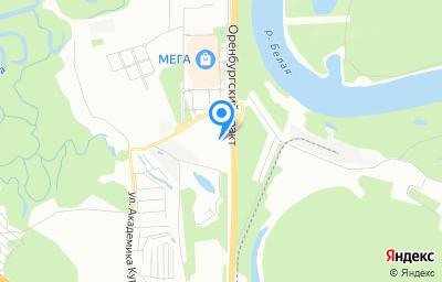 Местоположение на карте пункта техосмотра по адресу г Уфа, ул Рубежная, д 168