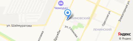 Автостоянка на ул. Дружбы на карте Стерлитамака