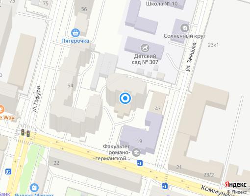 Товарищество собственников жилья «Успех» на карте Уфы