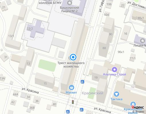 Управляющая компания «ТЖХ» на карте Уфы