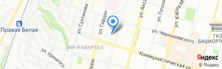 Уралнефтеснаб на карте Уфы