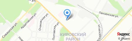 Средняя общеобразовательная школа №64 на карте Перми