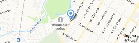 Продовольственный магазин на Трудовой на карте Стерлитамака