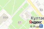 Схема проезда до компании Участковый пункт полиции в Култаево