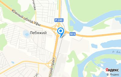 Местоположение на карте пункта техосмотра по адресу Респ Башкортостан, Уфимский р-н, с Чесноковка, ст Уршак-Промзона