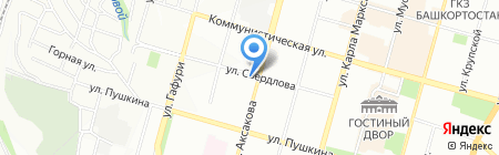 Автошкола на карте Уфы