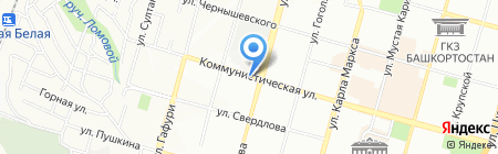 Фасоль на карте Уфы