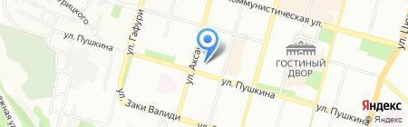 Средняя общеобразовательная школа №45 с углубленным изучением отдельных предметов на карте Уфы