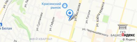 Лина на карте Уфы