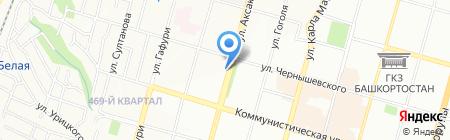 Юртэкс на карте Уфы