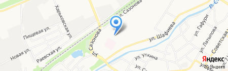 Парикмахерская на ул. Шафиева на карте Стерлитамака