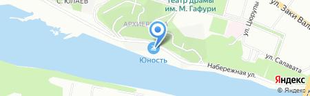 Уфимская школа профессионалов дайвинга на карте Уфы