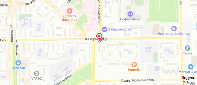 Карта расположения пункта доставки СИТИЛИНК в городе Салават